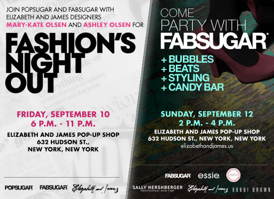 Fashion's Night Out Party Invitation From FabSugar and PopSugar