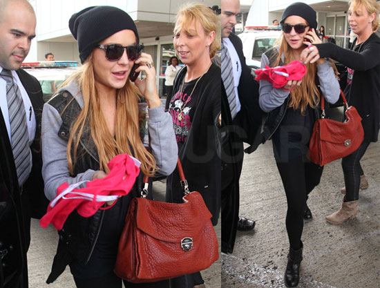Pictures of Lindsay Lohan Returning to LA Following Her Surprise VMAs Appearance