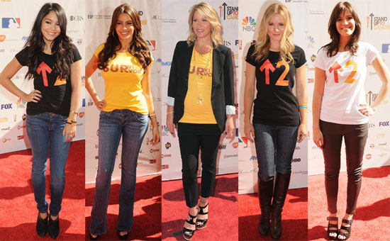 Pictures of Gwyneth Paltrow, Christina Applegate, Rob Lowe, Katie Couric and Cindy Crawford at the Stand Up to Cancer Event