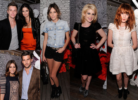 Alexa Chung, Xavier Samuel, Olivia Palermo at Mulberry's NY Fashion Week Party