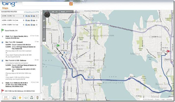 Bing Maps Gets Transit Directions