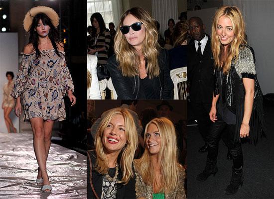 Sienna Miller, Elle MacPherson, Daisy Lowe, Cat Deeley at London Fashion Week 2010-09-19 20:30:00