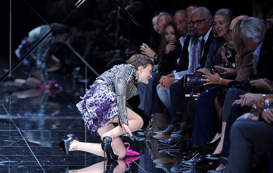 Gucci Rumored to Have Stolen Some of Burberry's Spring 2011 Models; Burberry Face Nina Porter Falls on Runway