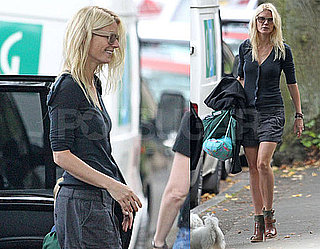 Pictures of Glee Guest Star Gwyneth Paltrow Doing the School Run in London