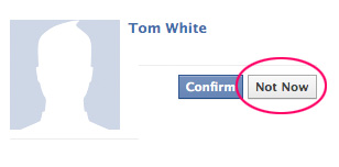 Deny Facebook Friend Request