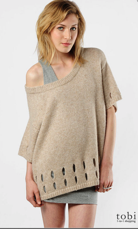 Surface to Air Alpaca Poncho Cutout Sweater ($350)