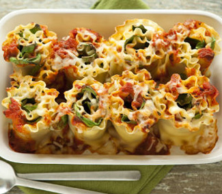 Recipe For Cheesy Lasagna Rolls With Spinach and Ricotta