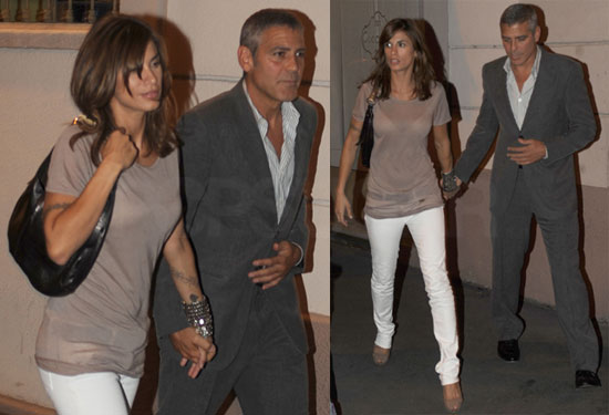 Pictures of George Clooney and Elisabetta Canalis in Milan