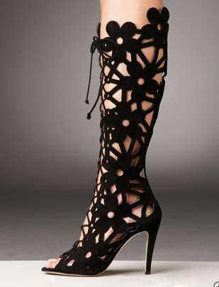 Manolo Blahnik Lace-Up Cutout Bootie ($1,445)