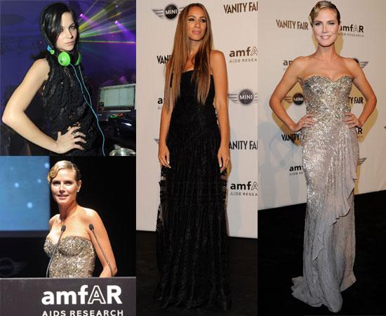Heidi Klum, Leona Lewis, Erin Wasson and Leigh Lezark at Milan Fashion Week amFAR Auction