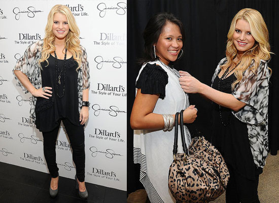 Jessica Simpson Signing Autographs at Dillard's in Friendswood, Texas