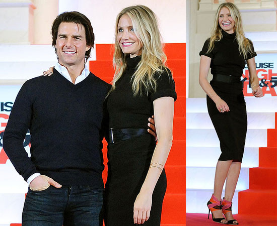 Pictures of Tom Cruise and Cameron Diaz Promoting Knight and Day in Japan