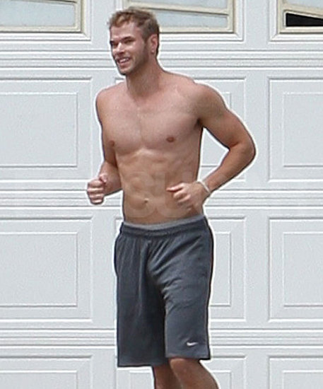 Pictures of Kellan Lutz Shirtless Playing Basketball