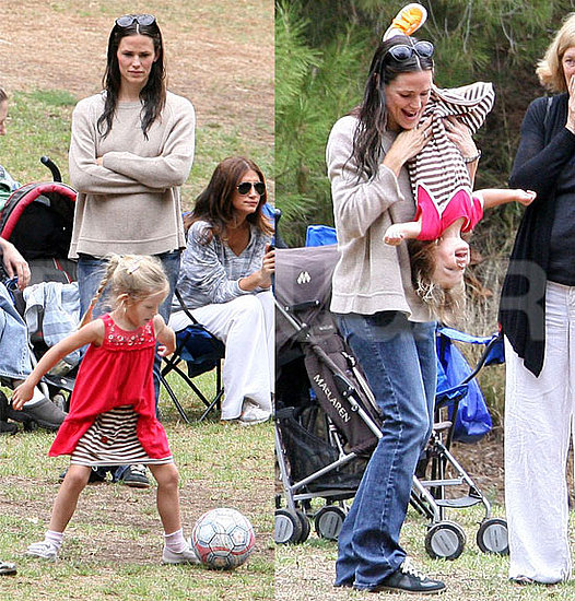 Pictures of Jennifer Garner at Soccer Practice With Violet, Seraphina, and Chris Affleck