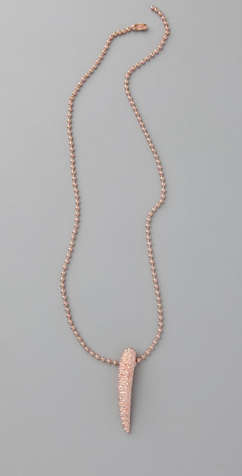 Made Her Think Breast Cancer Awareness Talon Necklace ($78)
