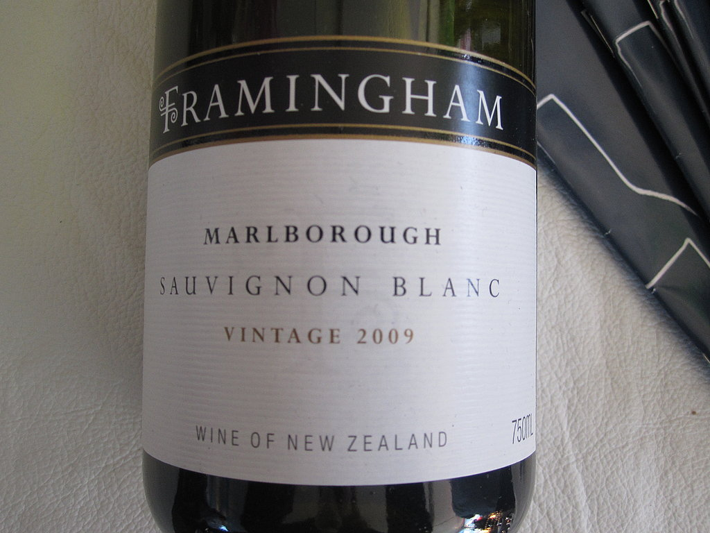 Sauvignon Blanc is my go-to white, and I really enjoyed the nuances of Framingham's easy-to-drink 2009 vintage from New Zealand.