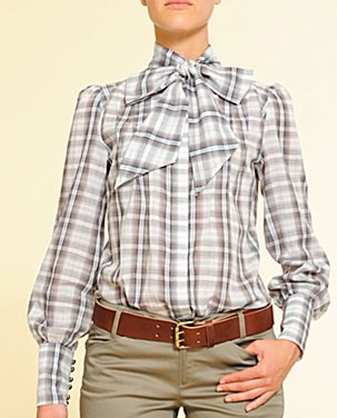 MNG by Mango Bow Neck Blouse ($36)