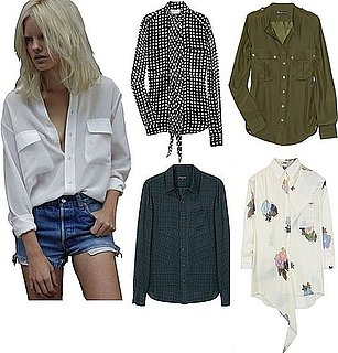 Silk Button Down Tops