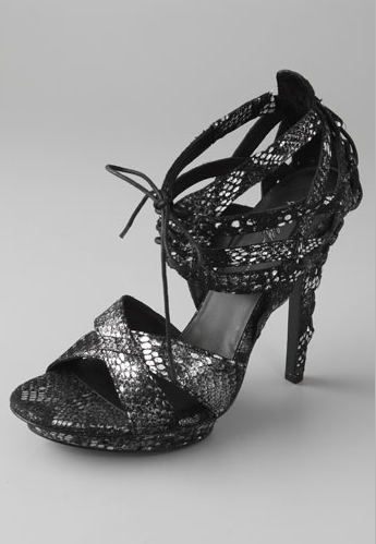 Elizabeth and James Stage Corset Tie Sandals ($375)