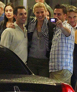 Pictures of Gwyneth Paltrow Grinning For Pictures With Fans Outside a Movie Theater in LA