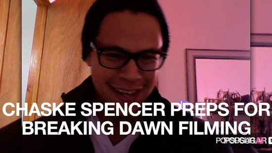 Video of Chaske Spencer Talking About Breaking Dawn