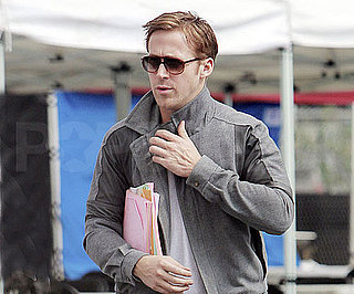 Slide Picture of Ryan Gosling on Set of Drive