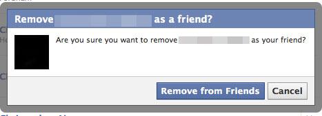 Unfriending Facebook Friends 2010-10-25 15:45:10
