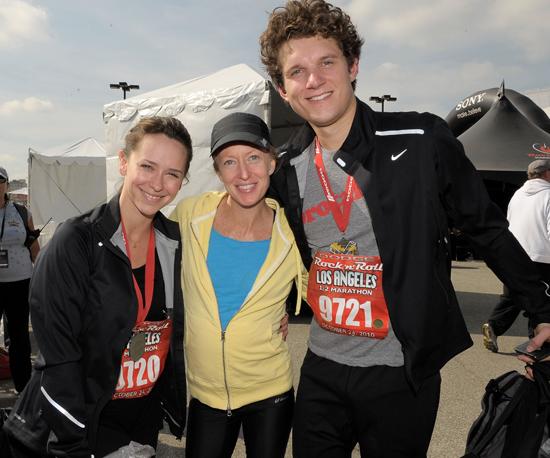Pictures of Celebrities Jennifer Love Hewitt, Deena Kastor, James Marsden in Los Angeles Rock 'n' Roll Half Marathon