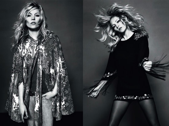 Photos of Kate Moss Modeling her Final Topshop Collection ...