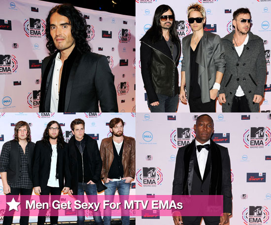 Pictures of Men Red Carpet at MTV EMAs 2010 Including Russell Brand, Dizzee Rascal, 30 Seconds to Mars, Kings of Leon