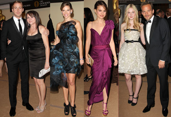 Pictures of Natalie Portman, Hilary Swank, Marisa Tomei, Ryan Gosling and More at Governors Awards in LA 2010-11-15 08:45:00