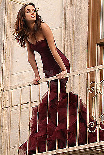 Pictures of Leighton Meester Shooting a Vera Wang Ad in NYC