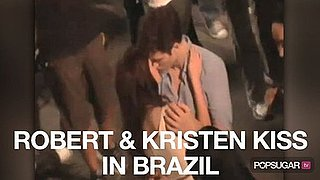 Video of Robert Pattinson and Kristen Stewart Kissing and Filming Breaking Dawn in Brazil 2010-11-08 14:00:00