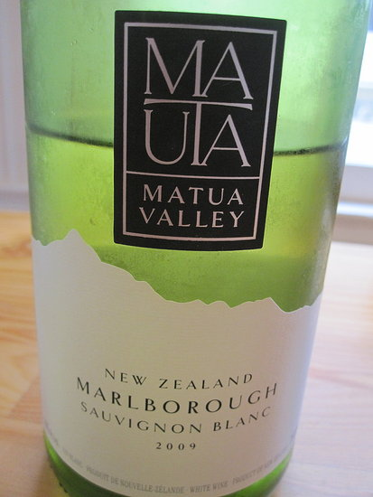 Review of 2009 Matua New Zealand Sauvignon Blanc