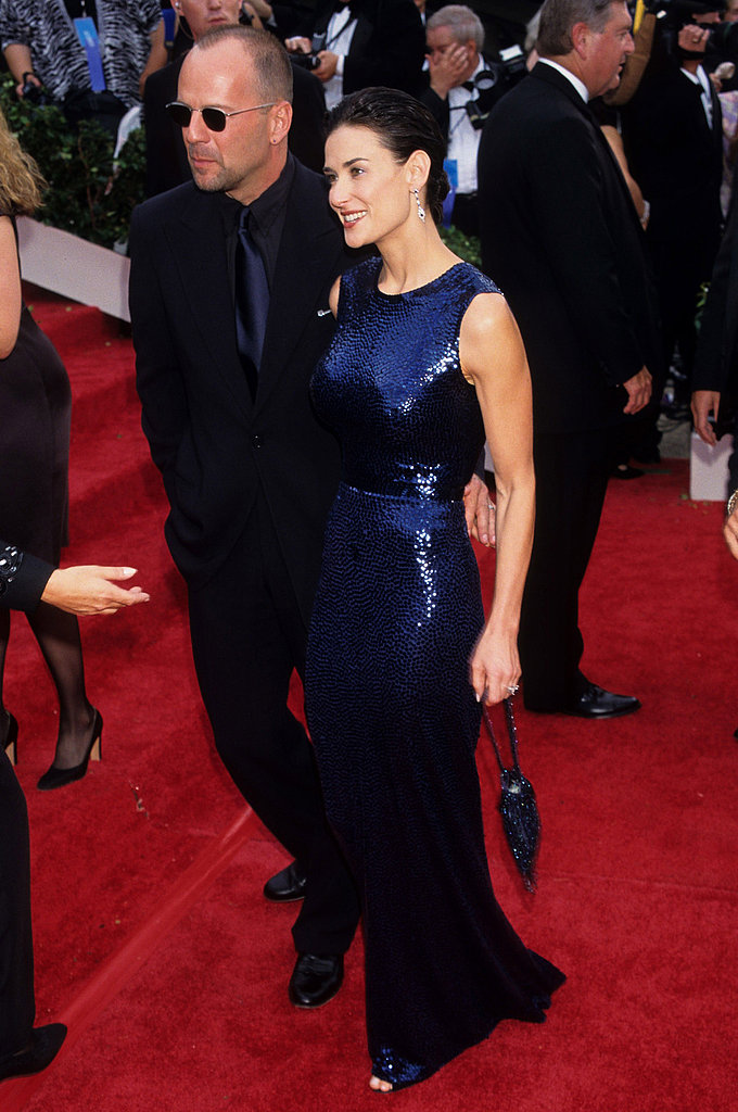 Bold, shimmering blue for the Emmy Awards in '97.