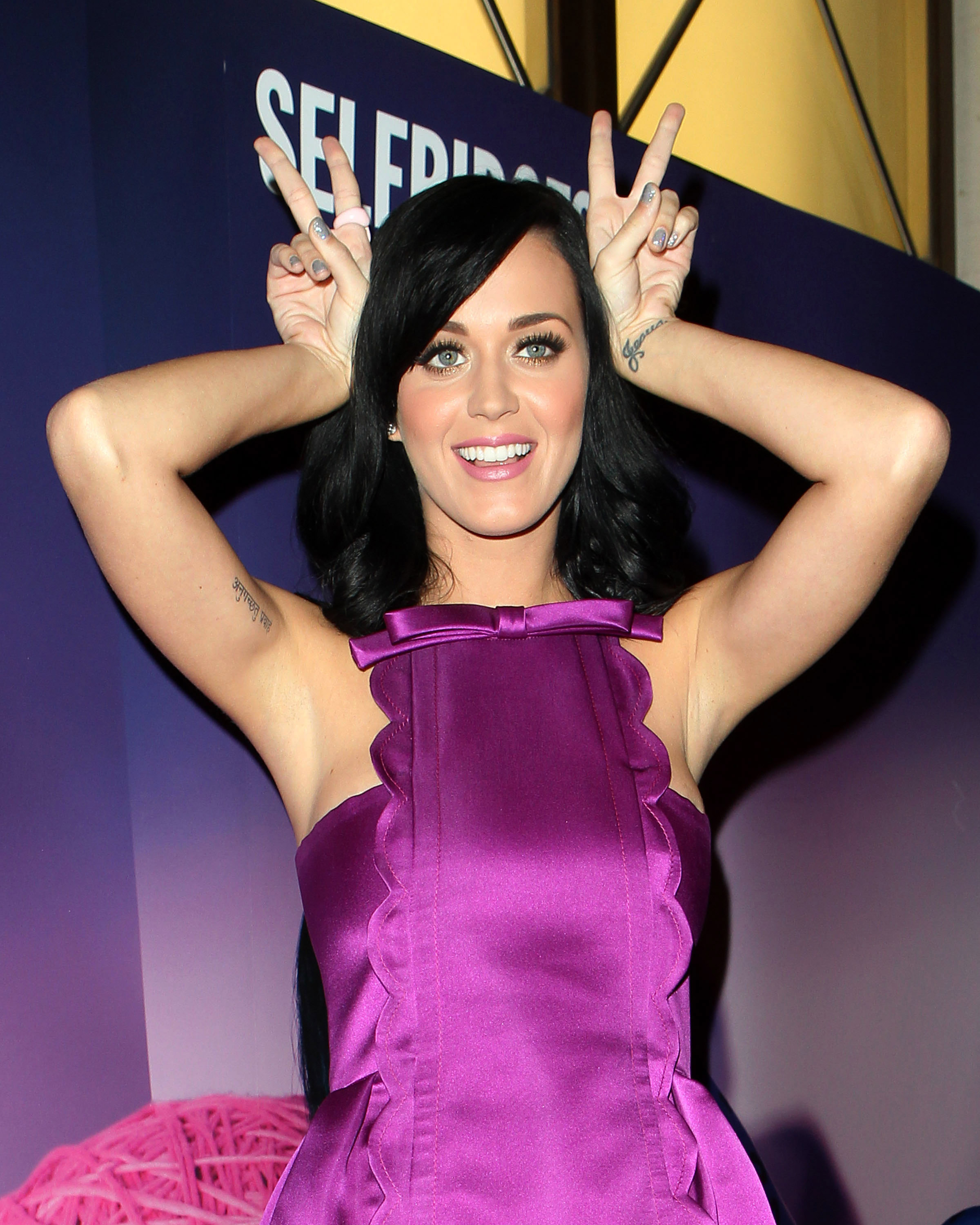 katy perry promoting her new fragrance purr at selfridges