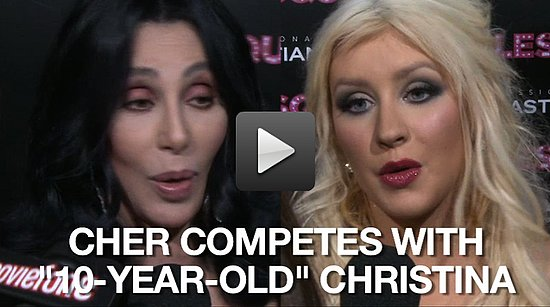 Video of Cher and Christina Aguilera at the Burlesque Premiere in LA