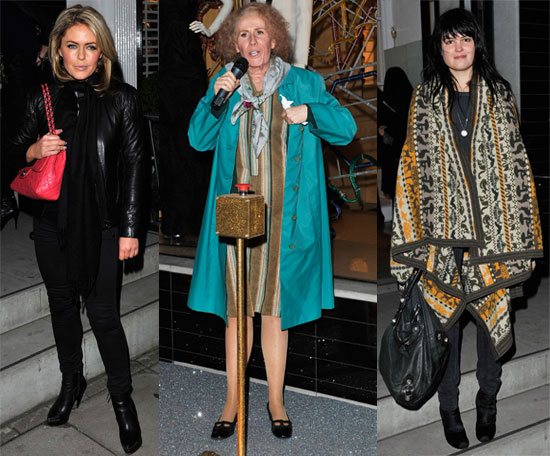 Pictures of Catherine Tate Turning on Stella McCartney Store Christmas Lights