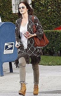 Pictures of Minka Kelly Leaving Salon in LA