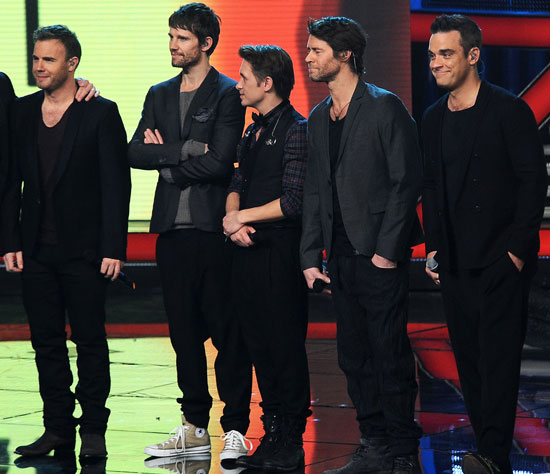 Pictures of Take That at The X Factor Italia