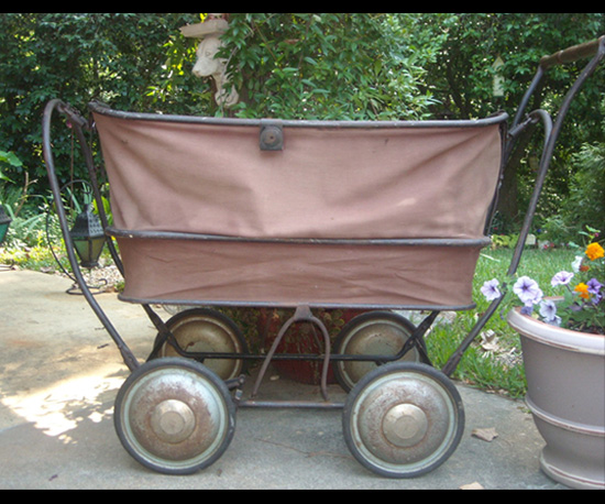 Canvas 1930s Baby Carriage