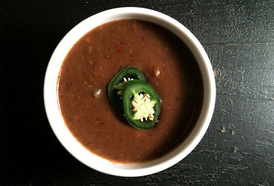 Low-Calorie Black Bean Soup Recipe