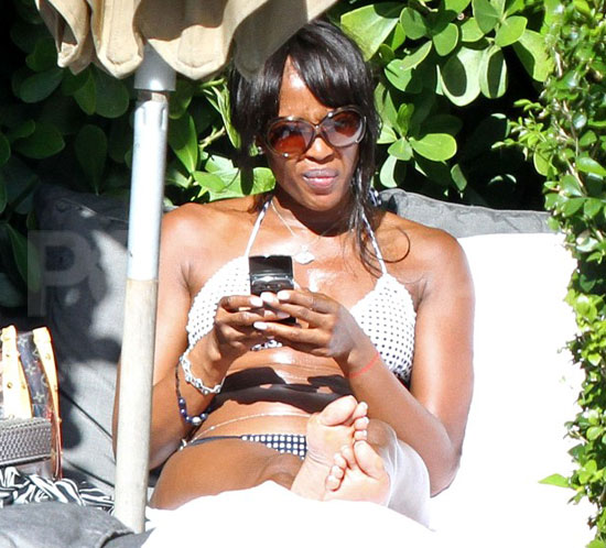 Pictures of Naomi Campbell in Bikini and Vlad Doronin Shirtless in Miami