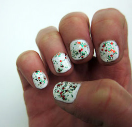 Swatch of China Glaze Party Hearty and Sinful Colors Snow Me White
