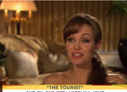 Video of Angelina Jolie on The Today Show for The Tourist