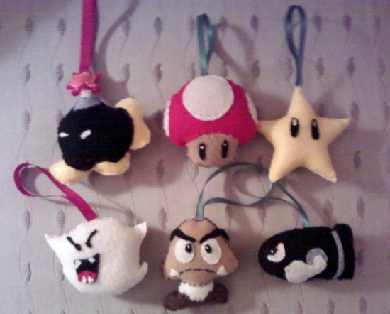 Super Mario ornaments package ($30)