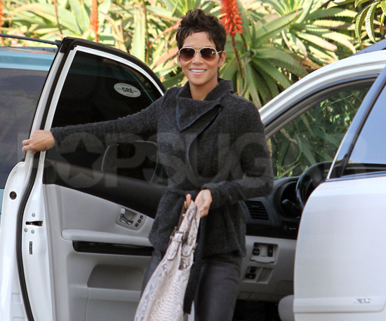Slide Picture of Halle Berry Arriving to a Studio in LA