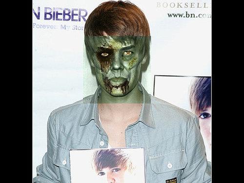 Site transforma Justin Bieber e outros famosos em zumbis
