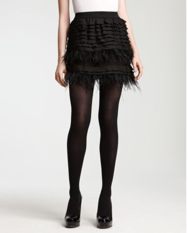 BCBGMaxazria Luxe Feather Tiered Skirt ($198)