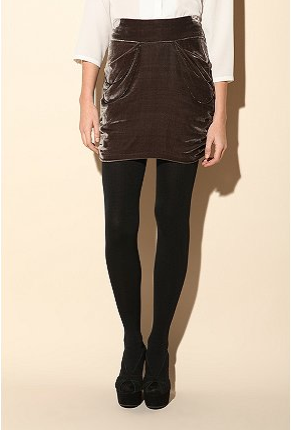 House of Dagmar Selma Velvet Skirt ($269)